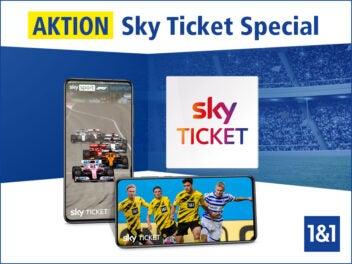 Sky Ticket Angebot bei 1&1