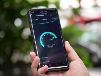 5G Speedtest auf dem Samsung Galaxy S10 5G
