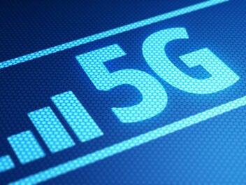 5G-Schriftzug in Blau
