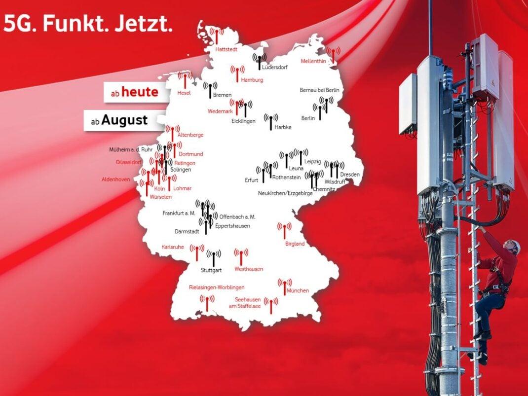 Orte mit Vodafone 5G-Netz