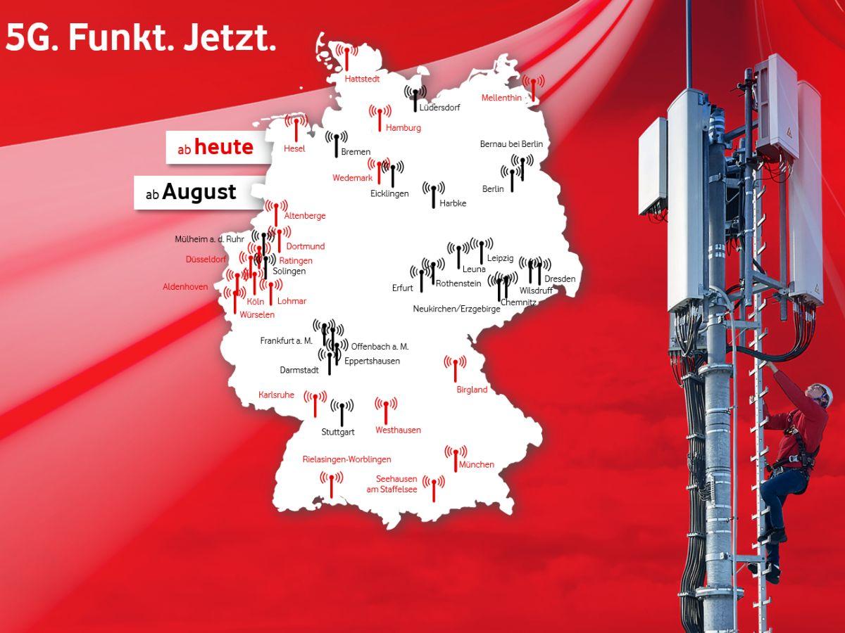 5g Antennen Deutschland Karte