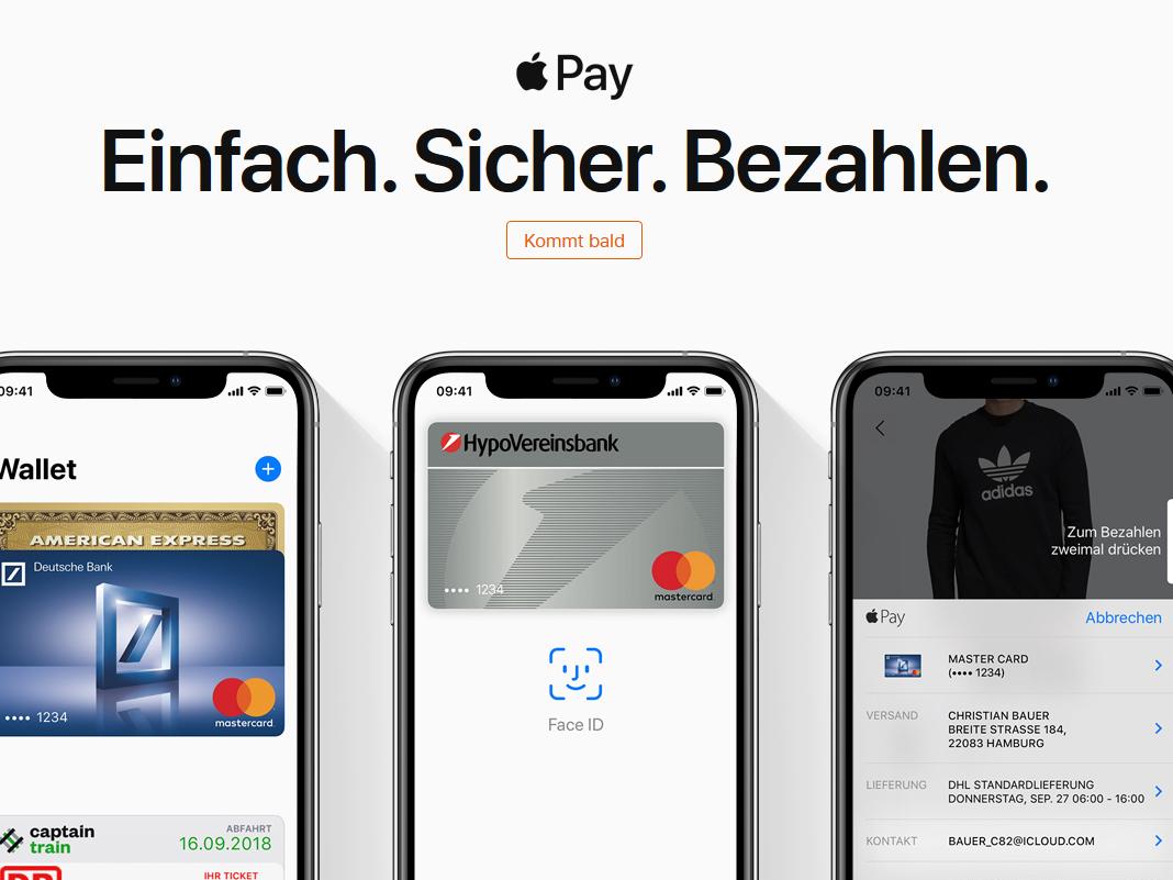 Apple Pay kommt nach Deutschland