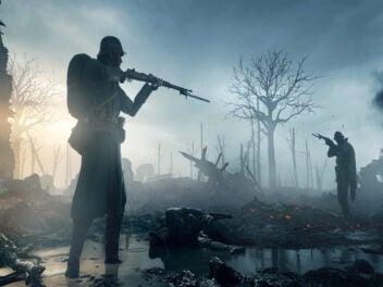 Battlfield zwei Soldaten zielen mit der Waffe aufeinander