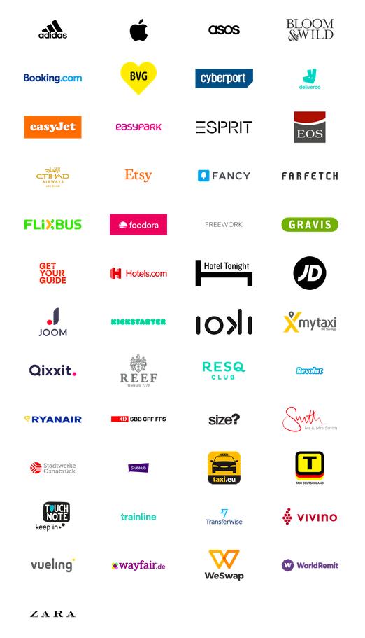 Eine Auswahl an Apps, die das Bezahlen mit Apple Pay unterstützen.