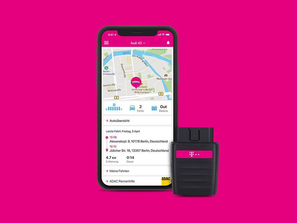 Die CarConnect-App der Deutschen Telekom