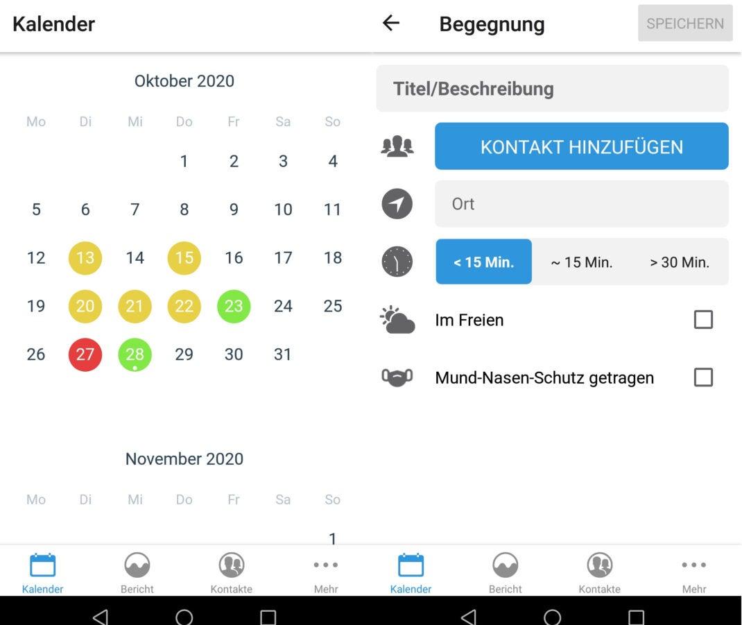 Übersicht der Cluster Diary App