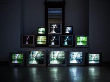 Gebrauchte Fernseher im Betrieb