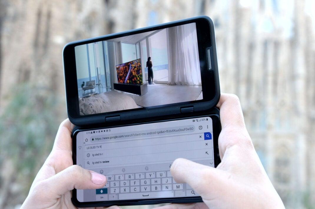 Das LG V50 ThinQ mit dem LG Dual Screen