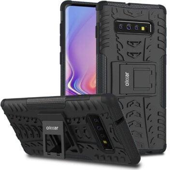 Das mögliche Samsung Galaxy S10 in einer Schutzhülle von Olixar