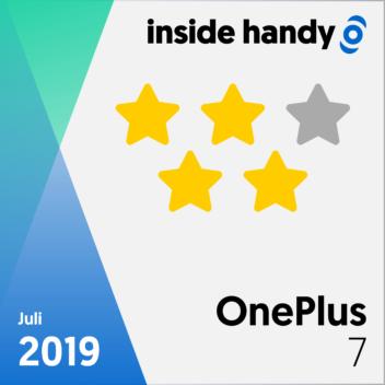 Testsiegel des OnePlus 7 mit 4 von 5 Sternen