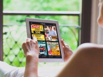 Mit Readly hast du immer alle neuesten Magazine bei dir.