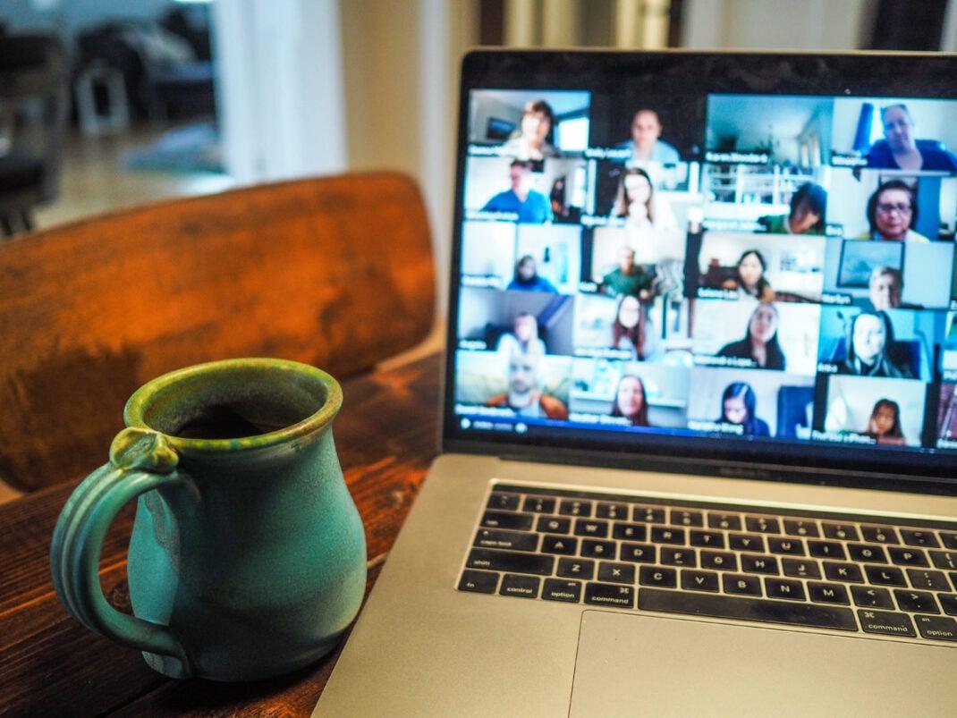 Videotelefonate werden bei zu vielen Teilnehmern unübersichtlich