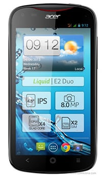ACER Liquid E2 Duo Datenblatt - Foto des ACER Liquid E2 Duo