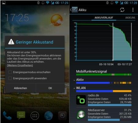 Acer Liquid S2 Akkuverlauf