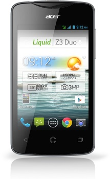 ACER Liquid Z3 Duo Datenblatt - Foto des ACER Liquid Z3 Duo