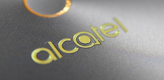 Logo von Alcatel auf einem Alcatel-Produkt