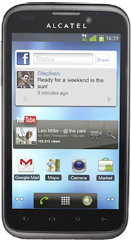 Alcatel One Touch 995D Datenblatt - Foto des Alcatel One Touch 995D