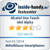 Alcatel One Touch Idol Alpha Testsiegel