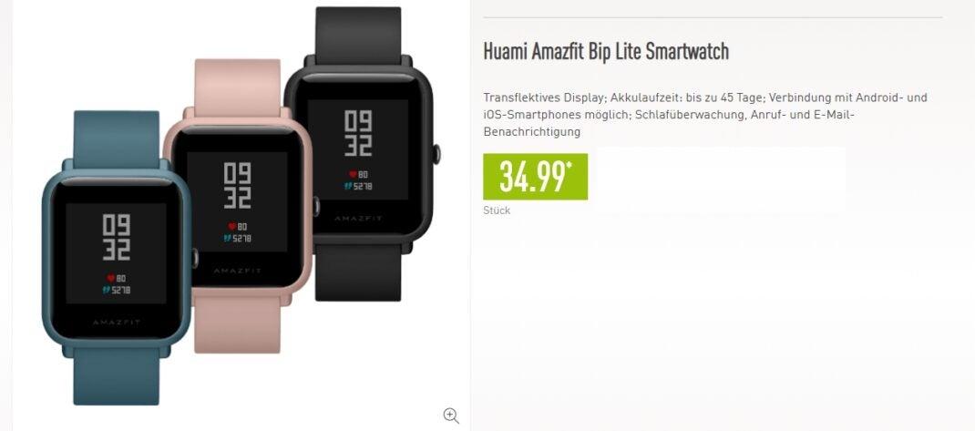 Amazfit Bip Lite Smartwatch bei Aldi Nord