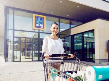 Einkauf bei Aldi Süd