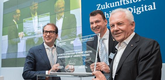 5-Punkte-Strategie Schiene Digital unterzeichnet.