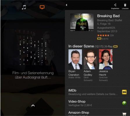 Amazon Fire Phone Firefly Film- und Serienerkennung