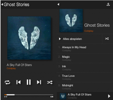 Amazon Fire Phone Musik-Player