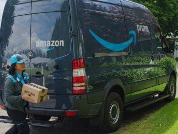 Ein Amazon-Transporter
