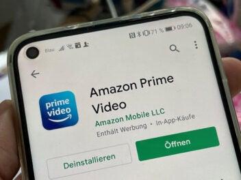 App von Prime Video auf Smartphone