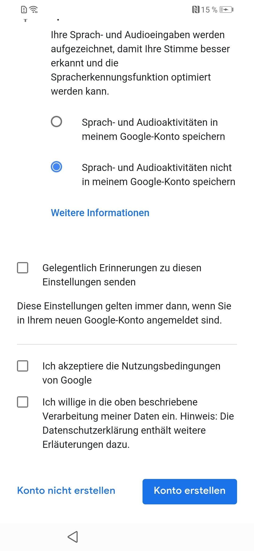 google konto geburtstag ändern