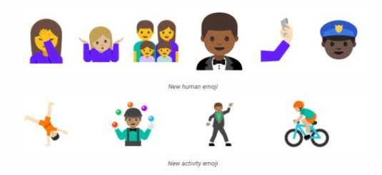 Neue Emoticons in Android N