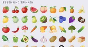 Essen und Trinken Emojis in Android 11