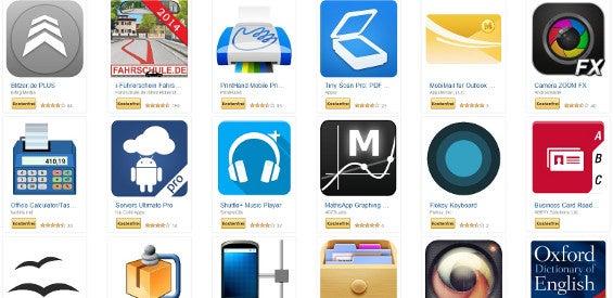 Android-Apps bei Amazon im Wert von 75 Euro kostenlos