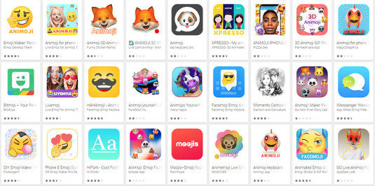 Animoji-Apps Google Play Store Android
