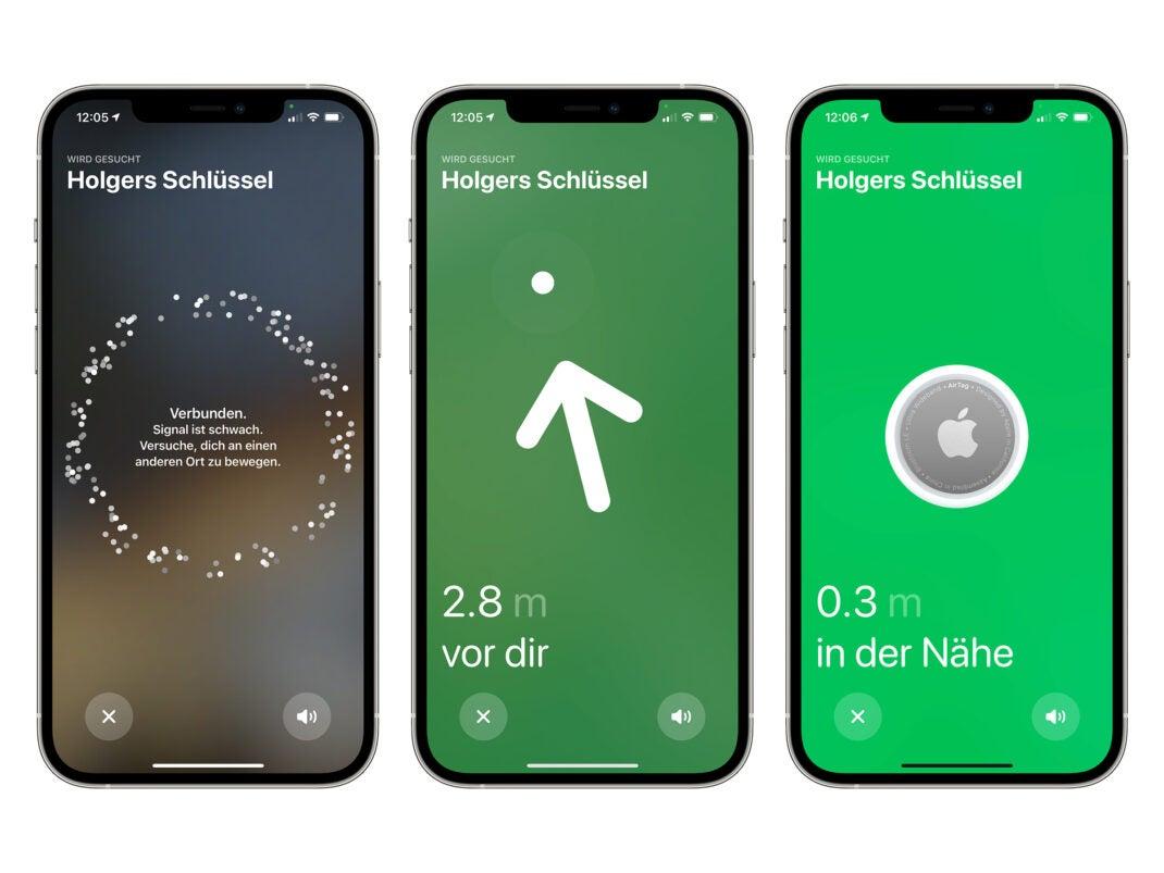 Apple AirTag: Die Suche mit einem iPhone in Wo ist?