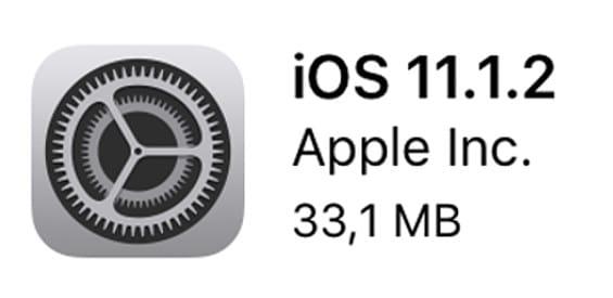Apple iOS 11.1.2 Update