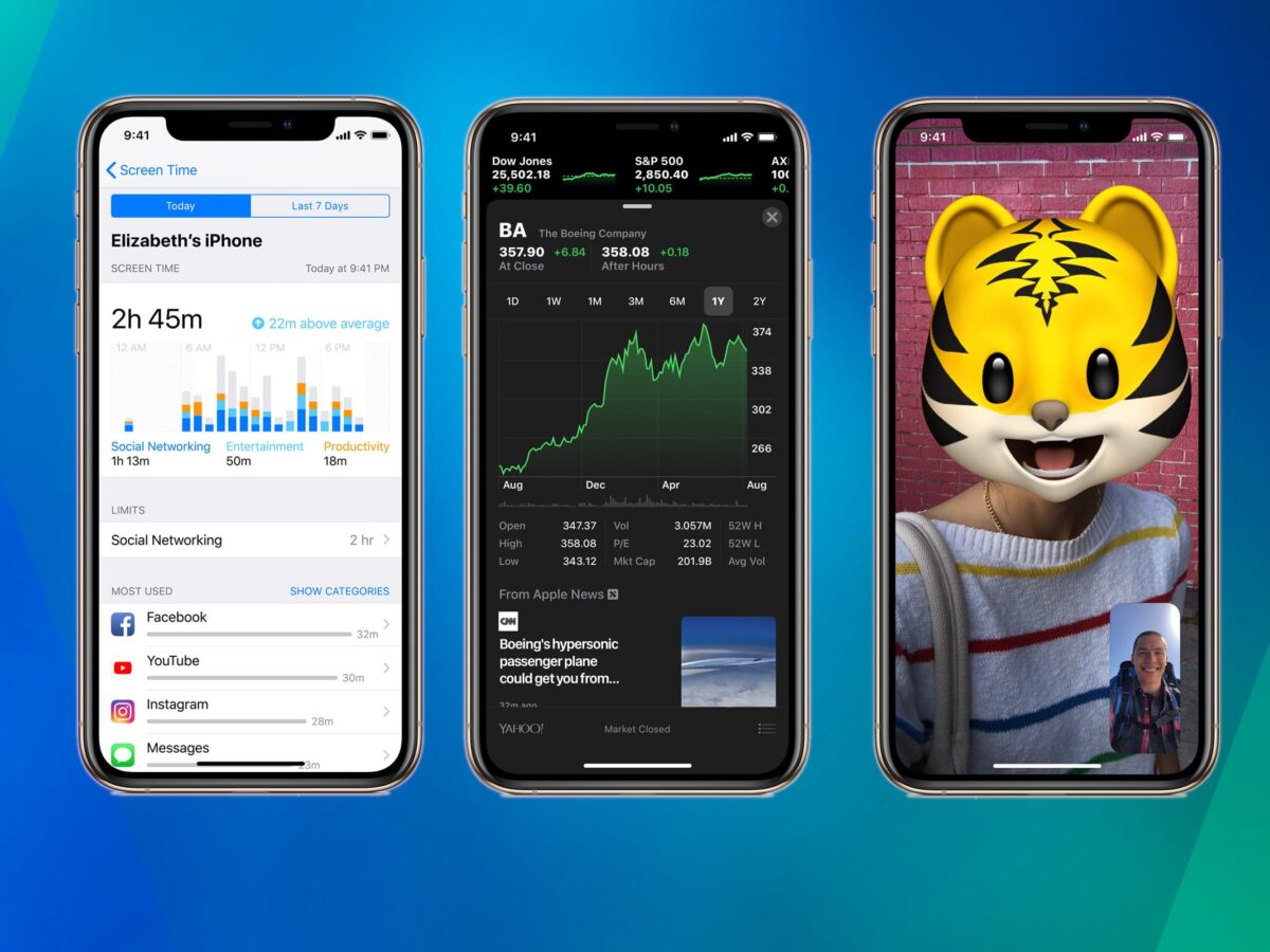 Screenshots von iOS 12