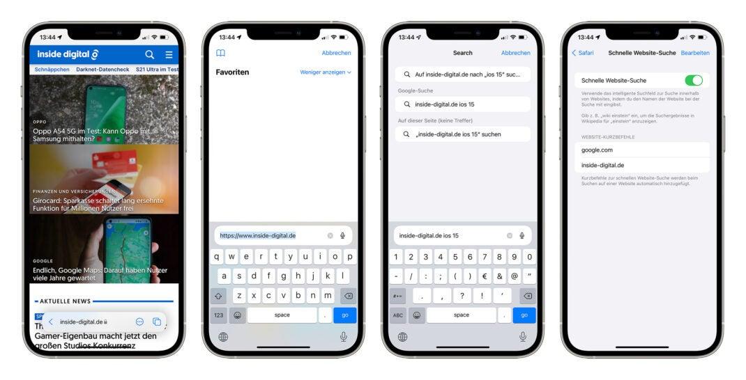 Safari in iOS 15 Beta 3