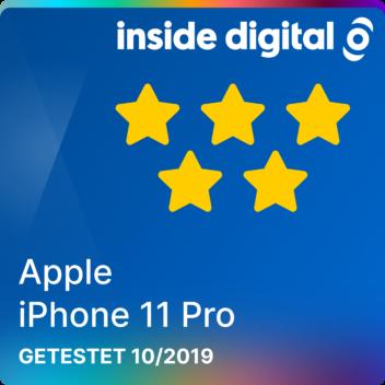 Apple iPhone 11 Pro Testsiegel mit 5 Sternen