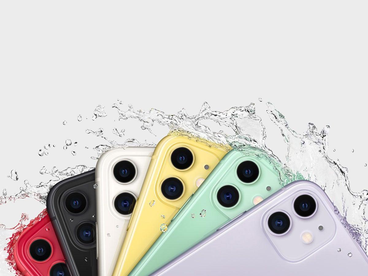 Apple iPhone 11 im Wasser