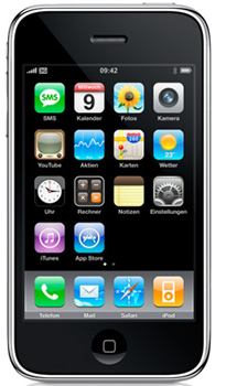 Apple iPhone 3G Datenblatt - Foto des Apple iPhone 3G