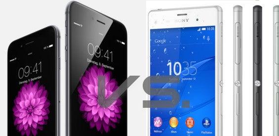 Apple iPhone 6 und 6 Plus vs. Sony Xperia Z3