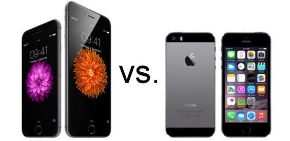Apple iPhone 6 und iPhone 6 Plus vs. iPhone 5s