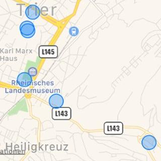 Apple, iPhone, 7, Karten, Standort, Ortung, Ortungsdienste, Trier, besuchte Orte, Screenshot