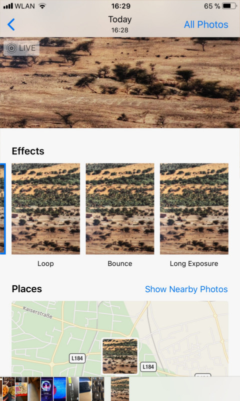 Apple iPhone Long Exposure