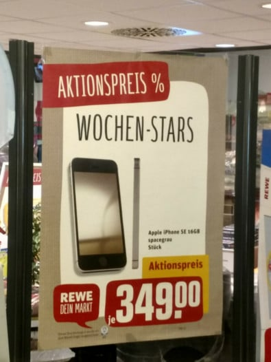 Apple iPhone SE 16 GB Rewe-Angebot