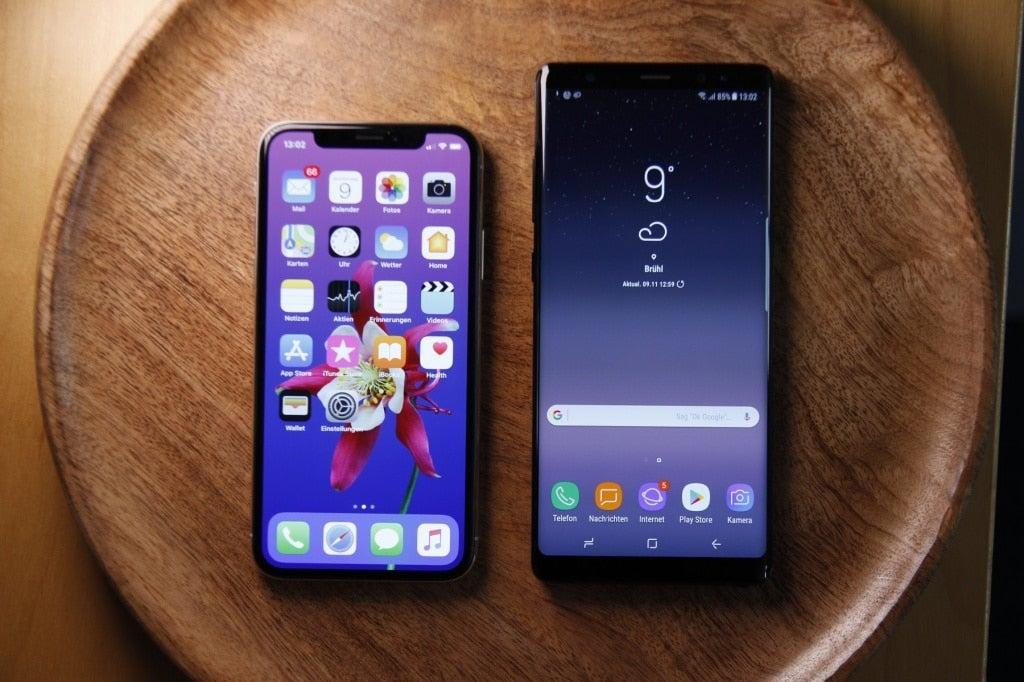 iphone x vergleich note 8