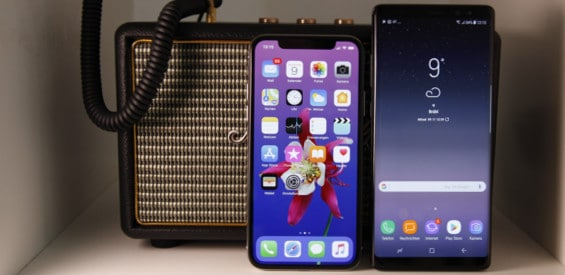 Apple iPhone X vs. Samsung Galaxy Note 8