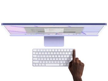 Das neue Magic Keyboard mit Touch ID im Einsatz