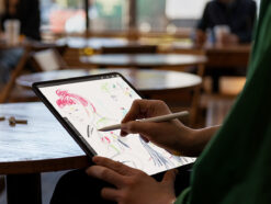 Apple Pencil 2. Generation in der Hand